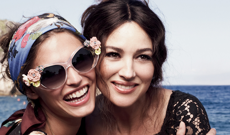 dolce-and-gabbana-eyewear-flower-collection-ss-2013-advertismenet-with-bianca-balti-and-monica-bellucci