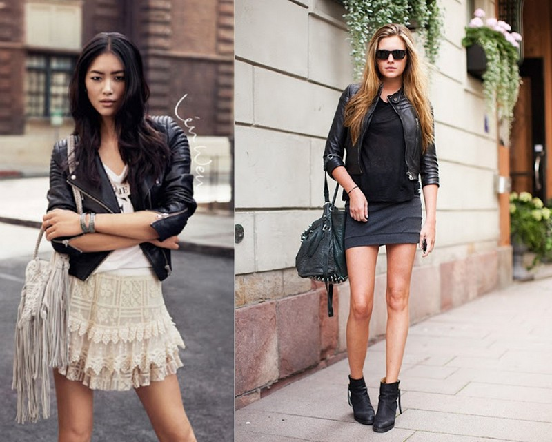 street style+leather perfecto+blog le chodraui