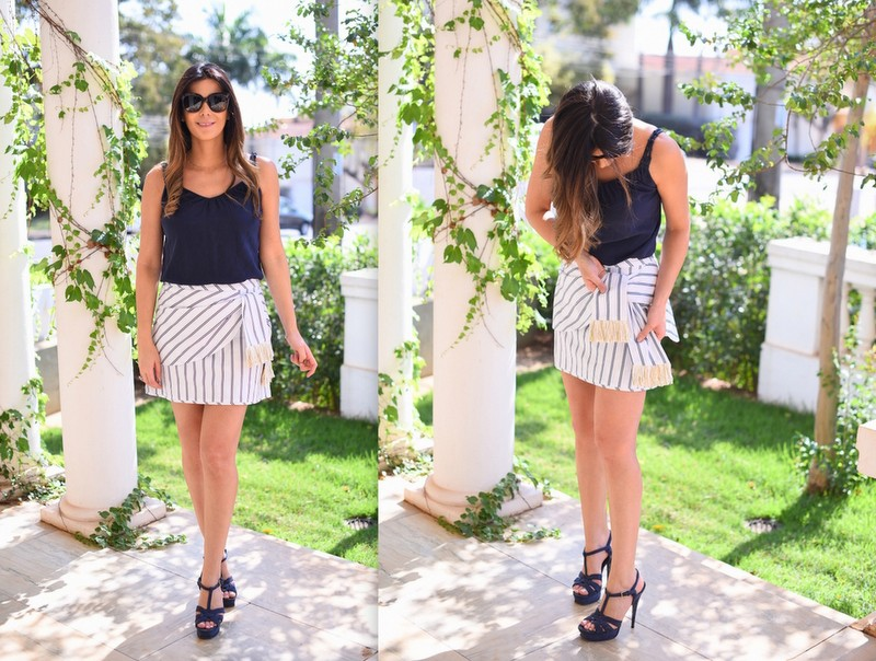 look-do-dia-le-chodraui-ribeirão-preto-saia-listrada-cris-barros-navy-look-sandália-yves-saint-laurent-azul-fashion-blogger