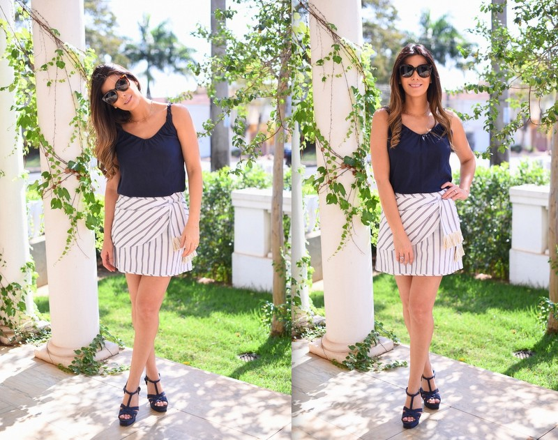look-do-dia-le-chodraui-ribeirão-preto-saia-listrada-cris-barros-navy-look-sandália-yves-saint-laurent-azul-fashion-blogger2